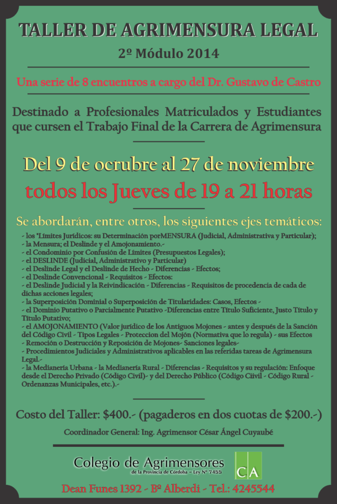 taller agrimensura legal 2 modulo 2014 final